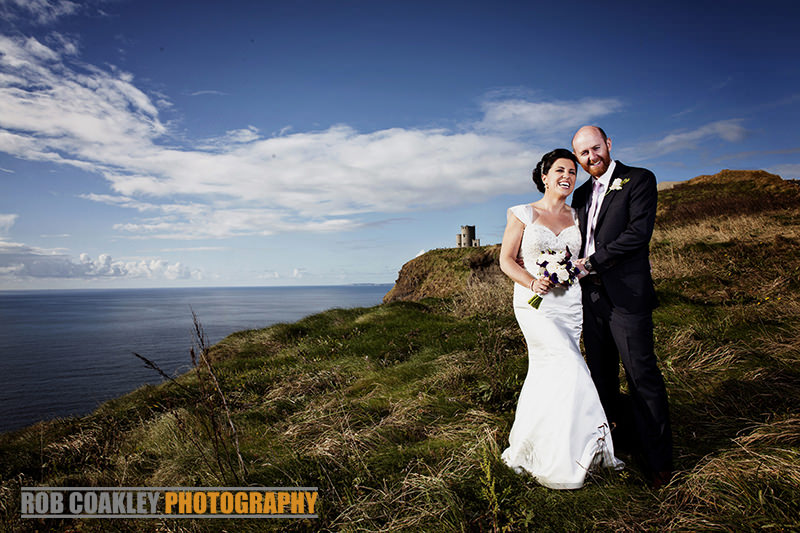 Cliffs of Moher wedding photographs Clare