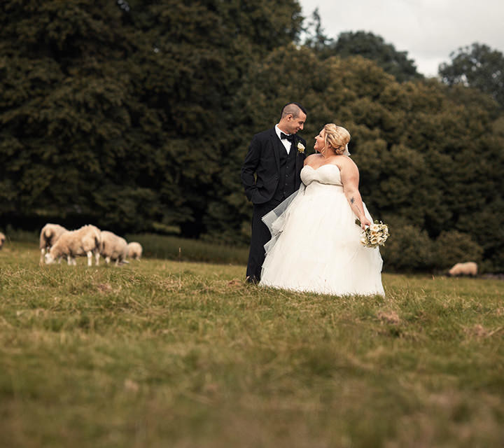 Temple House Sligo wedding at castle ruins with First Look